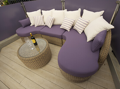 AB Sundecks Wood Effect Decking and Picket Purple Glass
