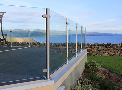 AB Sundecks Steel Glass Handrails overlooking the sea