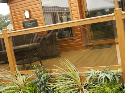 AB Sundecks Picket Glass on the New Hampshire Willerby Lodge