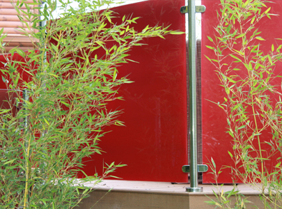 AB Sundecks Steel Red Glass