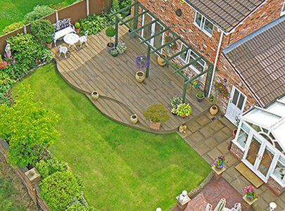 AB Sundecks Decking in the garden