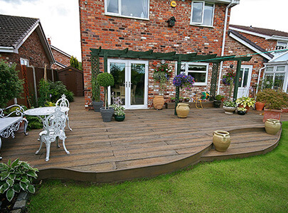 AB Sundecks Decking in the garden surrounding the house