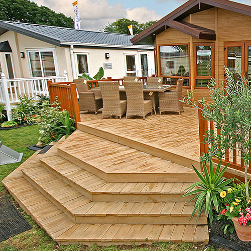 AB Sundecks with Steps and Picket Panel
